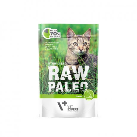 Vet Expert Raw Paleo Sterilised Game