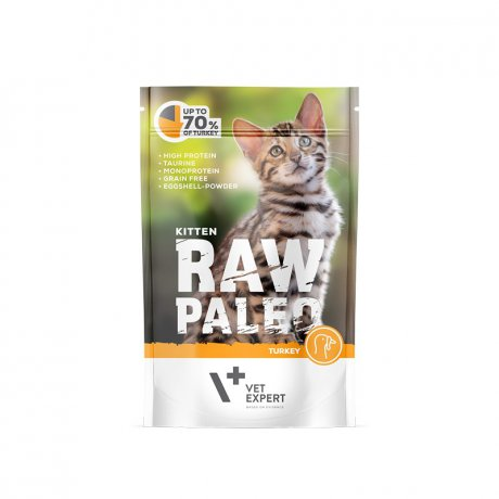 Vet Expert Raw Paleo Kitten Turkey